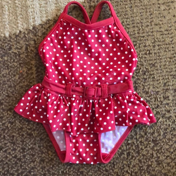 da57857d62 GAP Swim | Baby Red And White Polka Dot Bathing Suit | Poshmark